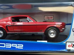 Maisto 1:18 Scale 1968 Ford Mustang GT Cobra Jet Diecast Veh