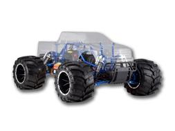 Redcat Racing Rampage MT PRO V3 Gas Truck, Clear Body, 1/5 S