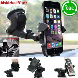 Universal Car Windshield Auto Lock Cell Phone Mount Holder F