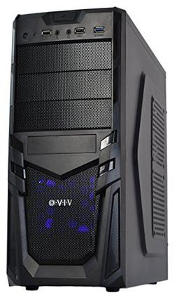 VIVO ATX Mid Tower Economy Computer Gaming PC Case/Black Des