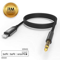 iDARS 3.5mm Lightning AUX Cable Apple MFi Certified Lightnin