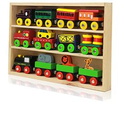 Around The Town 12 Piece Wooden Engines & Train Cars, Compat