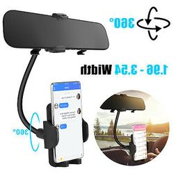 Auto Car Rearview Mirror Mount Stand Holder Cradle For Cell