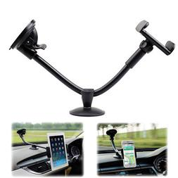 Auto Car Truck Van Phone Tablet GPS Bracket Long Arm Holder