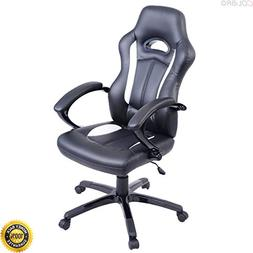 COLIBROX--High Back Race Car Style Bucket Seat Office Desk C