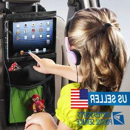 Backseat Car Set Organizer for Kids Tablet Holder with Mesh