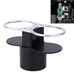 Black 2 Hole Cup Holder Drinks Seat for Car Mount Stand