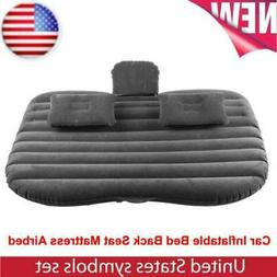 Black Car Inflatable Bed Back Seat Mattress Airbed for Rest