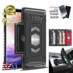 Body Armor For Galaxy S9 Note 9 8 S9+ Case Card Holder Slot