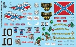 GOFER RACING BUBBAS FAVORITES DECALS SET #2 FOR 1:24 AND 1:2