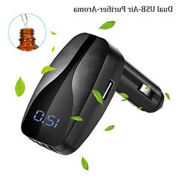 Car Charger Adapter, Ionic Air Purifier and Essential Oil Di