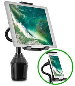Car Cup Holder Mount for Phone Tablet, Okra 2-in-1 iPhone iP