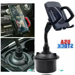 Car Mount Adjustable Gooseneck Cup Holder Cradle For Univers
