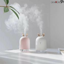 220ML Portable USB LED Mini Humidifier Cute Oil Diffuser For