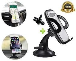 Car Phone Mount, AlphaBeing 2-in-1 Universal Phone Holder Ce