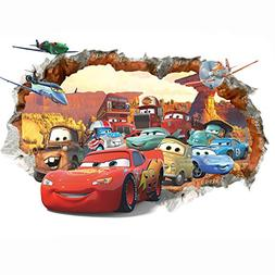 Cars 3D Wall Decal Children Themed Art Wall Sticker Home Dec