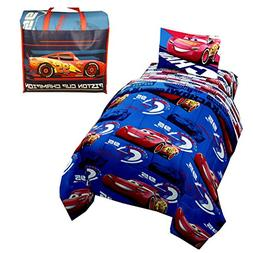 Disney Cars 4-Piece Kids Twin Bed in a Bag Bedding Sets with