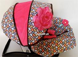 Rosy Kids Infant Carseat Canopy Cover 3pc Whole Caboodle, Ba