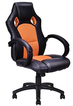 K&A Company Chair Executive Style Bucket Office Seat Leather
