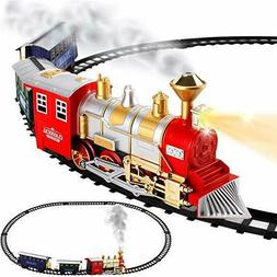 Classic Train Set For Kids With Smoke Realistic Sounds 3 Car