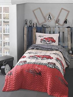 Classic Vintage cars bedding set, 100% Cotton Full/Twin Size