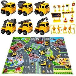 Construction Vehicle Toys Playset Cars for Kids 6 Engineerin