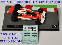 DECALS for James Hunt 1976 McLaren M23 Marlboro 1:43 Formula