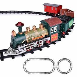ArtCreativity Deluxe Train Set for Kids | Battery-Operated T