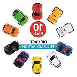 Playkidz: Die-cast Cars, Pull Back Action Vehicles for Toddl