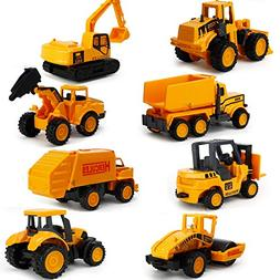 EASTiii Die-cast Construction Truck Vehicle Car Toy Set Play