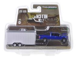 Greenlight 32091 2015 Ford F-150 and White Car Hauler Hitch