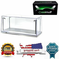 diecast model car Clear Display silver base Show Case for 1/