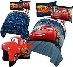 Disney CARS 6pc FULL Size Bedding ~ Twin/Full REVERSIBLE Com