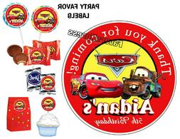 disney cars birthday party favors stickers
