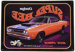 Dodge Super Bee Six Pack Car Tin Sign 12 x 17in