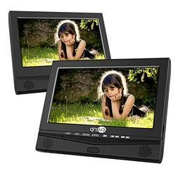 CUTRIP 10.1 Inch Dual Screen Portable DVD Player with Car He