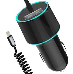 Fast USB Car Charger ,Sngg 4.8A Rapid USB Car Charger with 5