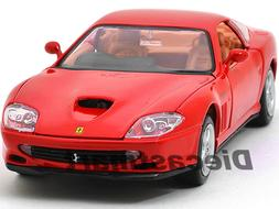 FERRARI 550 MARANELLO RED 1:24 DIECAST MODEL CAR BY BBURAGO