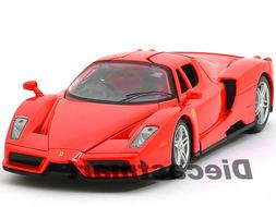 FERRARI ENZO RED 1:24 DIECAST MODEL CAR BY BBURAGO 26006 NEW