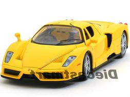 FERRARI ENZO YELLOW 1:24 DIECAST MODEL CAR BY BBURAGO 26006