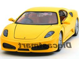 FERRARI F430 YELLOW COUPE 1:24 DIECAST MODEL CAR BY BBURAGO
