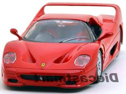 FERRARI F50 RED 1:24 DIECAST MODEL CAR BY BBURAGO 26010 NEW