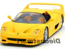 FERRARI F50 YELLOW 1:24 DIECAST MODEL CAR BY BBURAGO 26010 N