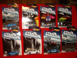 Full set of 8 NEW Walmart Exclusive 2016 Hot Wheels Fast and