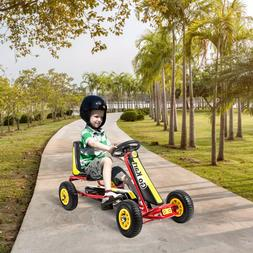 Go Kart Kids Ride On Car Pedal Kart Racer for Boys 4 Wheel T