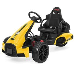Best Choice Products 12V Kids Go-Kart Racer Ride-On Car w/Pu
