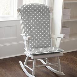 Carousel Designs Gray and White Dots and Stripes Rocking Cha