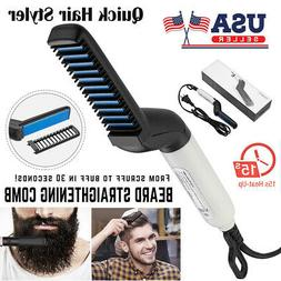 Hair Straightener Men Multifunctional Comb Curling Electric