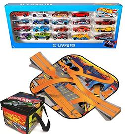 Bundle Includes 2 Items - Hot Wheels 20 Car Gift Pack  and N