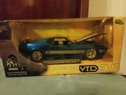 JADA DUB CITY BIGTIME MUSCLE 1973 FORD MUSTANG BLUE MACH 1
